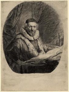 Portret van de Remonstrantse predikant Johannes Uytenbogaert (1557-1644), staat II