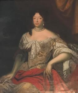 Portret van Johana Magdalena gravin Hrzán van Harasov