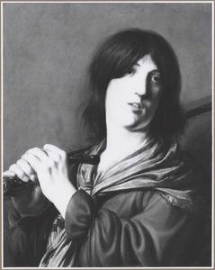 David met een zwaard over zijn schouder