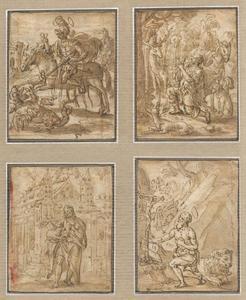 H. Joris; H. Hubertus; H. Johannes de Doper; H. Hieronymus