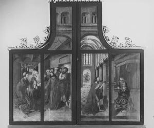 Christus zegt vaarwel tegen Maria (buitenzijde linkerluik); Christus´ verschijning aan Maria (buitenzijde rechterluik)
