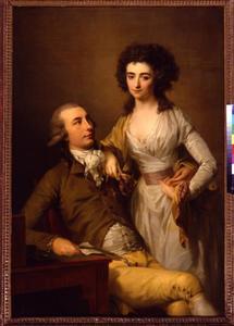 Dubbelportret van Jacob Hendrik Boode (1764-1826)  en Catharina Antoinette Martin (1768-1848)