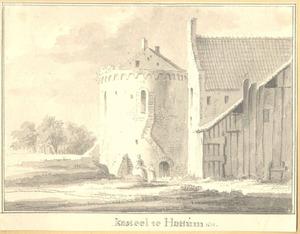 Ruïne van kasteel St. Lucia ofwel de Dikke Tinne, opgenomen in de stadsmuur van Hattem