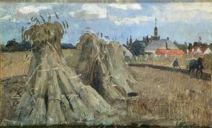 Korenschoven op het veld
