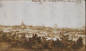 Gezicht op Naarden, 12 september 1673, de dag van de Franse capitulatie