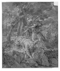 Persephone en de nimf Hercyna en de gans