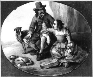 Paar met een hond