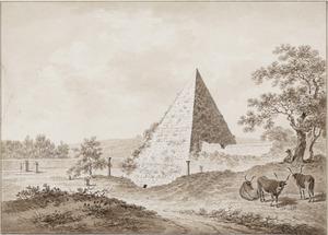 De pyramide van Cestius in Rome