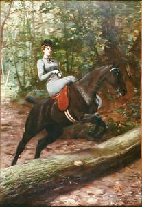 Portret van de Duchesse d'Uzès in amazonezit