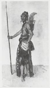 Staande Javaanse danser