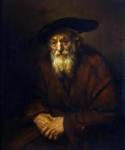 Man in een leunstoel