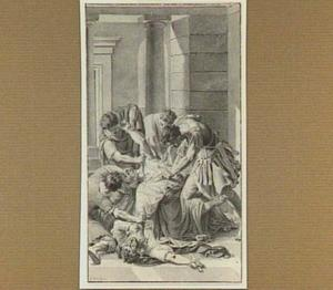 Moord op Julius Caesar in het theater van Pompeius in 44 voor Christus