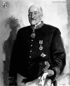 Portret van Pieter Albert Vincent baron van Harinxma thoe Slooten (1870-1954)
