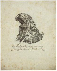Portret van de bisschop van Munster, gecombineerd met een varkenskop