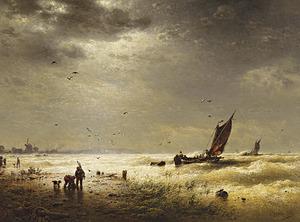 Storm op de Hollandse Zuiderzeekust