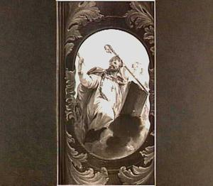Cartouche met de Heilige Augustinus