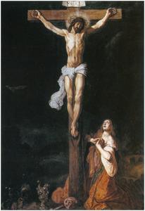 Christus aan het kruis met Maria Magdalena