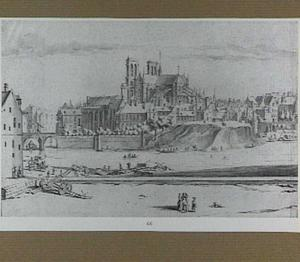 Parijs, gezicht op de Notre Dame vanuit het zuidoosten