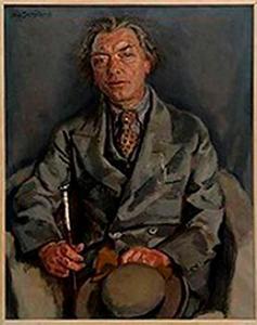Portret van de schilder Germ de Jong (1886-1967)