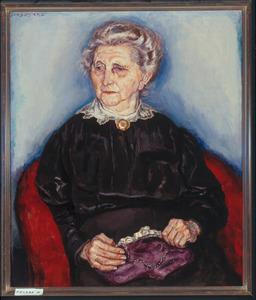 Portret van een oudere dame