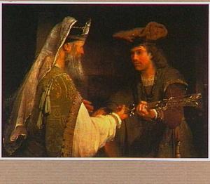 Abimelech geeft Goliats zwaard aan David (1 Samuel 21:9)