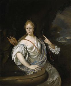 Portret van een vrouw als de godin Diana