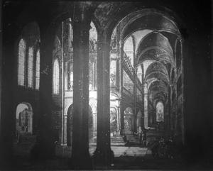 Interieur van een gefantaseerde kerk