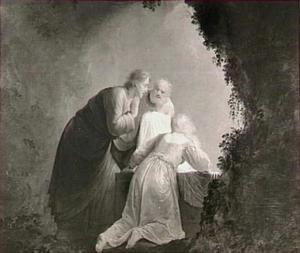 Petrus, Johannes en Maria Magdalena bij het graf