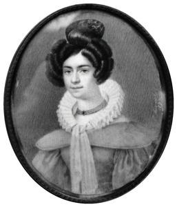 Portret van een vrouw, waarschijnlijk Johanna Adriana Fock (1808-1849)