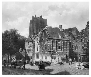 Fantasie-stadsgezicht met de kerktoren van Wijk bij Duurstede