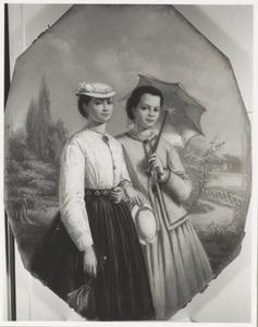 Portret van Anna Frederika Braak (1842-1921) en een vrouw, mogelijk Aaltje Hendrika Braak (1844-1908)
