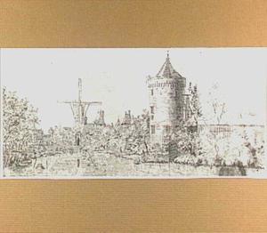 De Lekpoort te Culemborg, gezien vanuit het zuidwesten