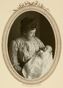 Portret van Elisabeth Lamberta van Riemsdijk (1871-1961) en Willem Abraham Baud (1909-1986)