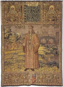 Christian I (1426-1481) met Rome op de achtergrond