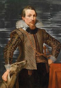 Portret van een man met hazewind