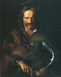 Geïdealiseerd portret van de leider van Hongaarse opstand Ferenc II.  Rákóczi
