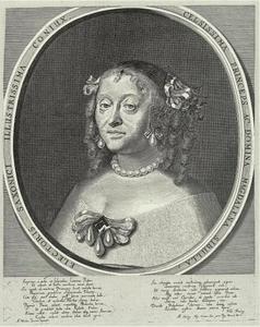 Portret van Magdalena Sibylle van Saksen (1617-1668)