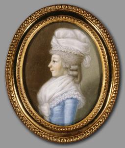 Portret van waarschijnlijk Judith Berthlemina Charlotte Hubert (1764-1797)