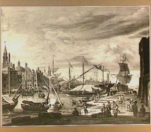 Gezicht op Venetië met het Canal Grande en het Dogenpaleis