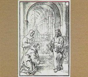 H. Franciscus van Paula houdt in zijn handen gloeiende kool