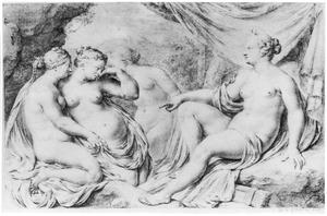 Diana en haar nimfen ontdekken de zwangerschap van Callisto