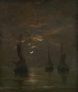 Nacht met maanlicht