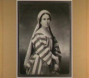 Portret van de actrice Mina Valois-Sablairolles als Deborah uit Deborah van Mosenthal
