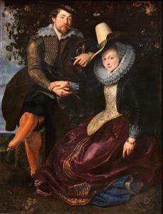 Zelfportret met zijn eerste echtgenote Isabella Brant (1591-1626)