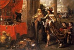 Koning Croesus toont Solon zijn schatten