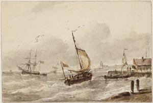 Zellschepen voor een haven