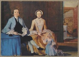 Portret van Joachim Lodewijk Wernich (1730-1777), zijn echtgenote Anna Margaretha van Reenen (1733-1754) en hun dochter Magdalena Eliabeth (1752-)