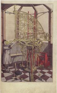 Johannes Hevelius (1611-1687) met Azimuth telescoop