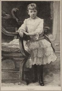 Portret van koningin Wilhelmina als meisje (1880-1962)
