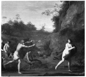 Apollo achtervolgt Daphne